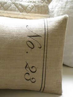 Burlap pillow...