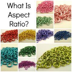 """Have you been confused by encountering the term """"aspect ratio"""" when looking at chainmaille weaves, or discussions of jump rings? I have too! Aspect ratio is a simple concept that can …"""