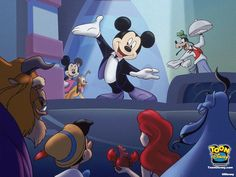 Mickey in Disney's House of Mouse - Interesting Facts About Cartoon Animation And Characters Page 2 of 2 Best of Web Shrine Mickey Mouse Y Amigos, Mickey Mouse Cartoon, Mickey Mouse And Friends, Minnie Mouse, Arte Disney, Disney Magic, Disney Art, Disney Wiki, Disney Mickey