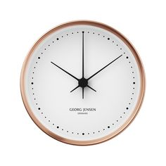 Georg Jensen KOPPEL 15 cm wall clock, copper with white dial