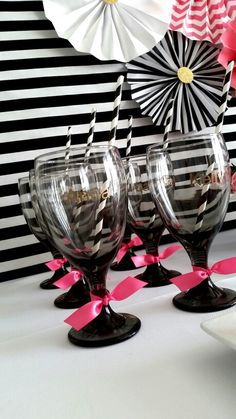 Kate Spade Themed DIY glasses