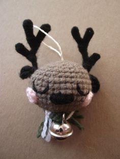 Amigurumi reindeer ornament Serge by PetitsPixels on Etsy