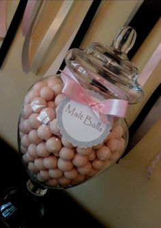 pink malt balls