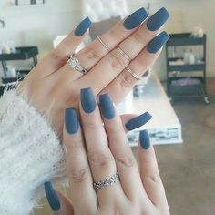 Your nails will appear fabulous! In general, coffin nails are also thought of as ballerina nails. Cute pastel orange coffin nails are amazing if you want to continue to keep things chic and easy. Marble nail designs are perfect if… Continue Reading → Acrylic Nails Coffin Matte, Matte Nail Polish, Acrylic Nails Autumn, Coffin Nails Short, Gel Polish, Blue Nails, My Nails, Color Nails, Shellac Nails