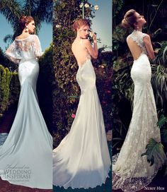 We picked these 3 as favorites from Nurit Hen's 2013 Wedding Dress Collection for their sheer elegance and jaw-dropping back designs. @ http://weddinginspirasi.com/2013/04/22/nurit-hen-wedding-dresses-2013/