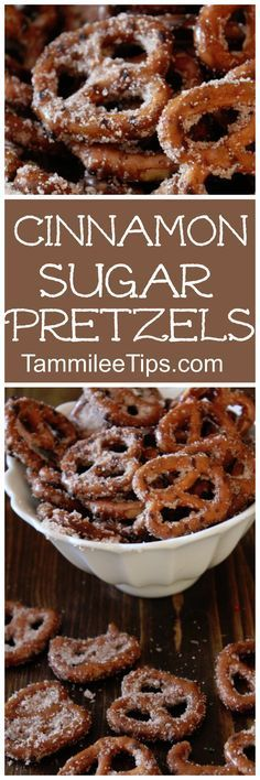 Perfect for DIY Homemade holiday gifts! This… Super easy Cinnamon Sugar Pretzels! Perfect for DIY Homemade holiday gifts! This sweet dessert recipe is a family favorite! Smores Dessert, Dessert Oreo, Coconut Dessert, Low Carb Dessert, Dessert Table, Brownie Desserts, Mini Desserts, Sweet Desserts, Easy Desserts