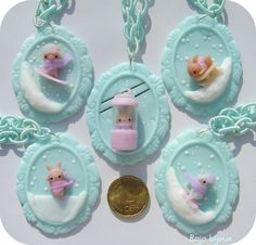 Kawaii Wintern Cameos Necklaces by Bojo-Bijoux.deviantart.com on @deviantART
