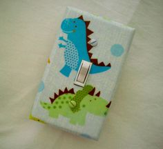 Dinosaurs Light Switch Cover / Switchplate / by cathyscraftycovers, $8.00