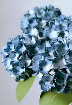 Hydrangea Paper Flowers maybe for hanging in jars from trees