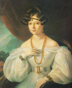 Portrait of a Woman  by Miklós Barabás