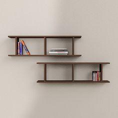 Rail Wall Shelves Matt Wenge, 102€, now featured on Fab.