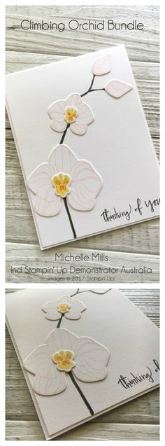 Michelle Mills - Ind Stampin' Up!® Demonstrator Brisbane Australia. FB: Hello Day Cards. Climbing Orchid Bundle from Stampin' Up!® - buy the bundle and save 10%