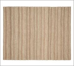 Love the textural and tonal quality!   Twill Stripe Jute Rug - Bleached Ivory #potterybarn