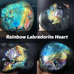 Missing someone you haven't seen in a while? 🥰 Surprise them with lots of love and good vibes with this jumbo rainbow Labradorite heart to brighten up their day! 🌈   This beauty radiates all colors of the rainbow, including purple and pink coveted flash. Swipe through to see the outdoor and indoor footage of this colorful decor crystal! 💎💜  #crystals #crystalhealing #labradorite #rainbow #labradoriteheart #love #anniversarygiftideas #tablecenterpiece #crystalheart #rainbowheart #pride Reiki Healer, Sacred Geometry Art, Crystal Decor, Third Eye Chakra, Chakra Balancing, Rainbow Heart, Centerpiece Decorations, Rocks And Minerals, Colorful Decor