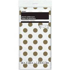 Plastic Gold Polka Dot Table Cover 108\  x 54\   sc 1 st  Pinterest & Hanna K Plasticware Plastic Plate Round 10\