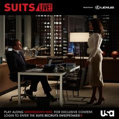Gabriel Macht as Harvey Specter, Gina Torres as Jessica Pearson -- (Photo by: Shane Mahood/USA Network) Suits Suits Tv Series, Suits Tv Shows, Suits Episodes, Donna Paulsen, Jessica Pearson, Gina Torres, Suits Usa, Suits Season, Usa Network