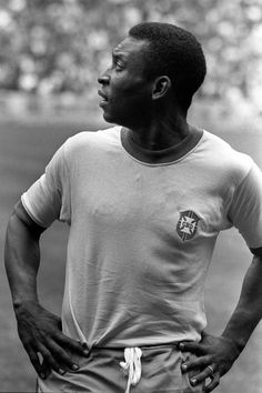Pele, before the 1970 World Cup final.