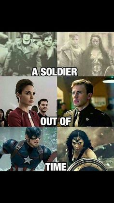 Steve and Diana-- I'm so glad someone else saw the similarities between CA:TFA and the Wonder Woman trailer!: I think WW will save DC the way Cap saved Marvel Marvel Dc Comics, Marvel Avengers, Wonder Woman, William Moulton Marston, Marvel Universe, Super Heroine, Dc Memes, Gal Gadot, Film Serie