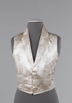 Evening vest Date: 1840–49 Culture: probably French Medium: silk, cotton