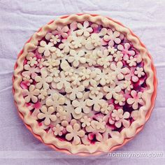 Blackberry pie before baking. Using mini cookie cutters can make your pies so pretty.