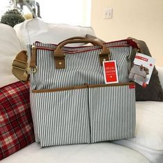 Because I just couldn't justify a designer diaper bag...but I really hate diaper bags... I went with the @skiphop Duo Luxe they had on @potterybarnkids and so far I can say I don't hate it... #pregnancy #nesting #skiphop #mommystyle