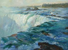 Outpouring, Horseshoe Falls by Rick Delanty  ~ 36 x 48  Check him out at www.delantyfineart.com   Truly incredible!
