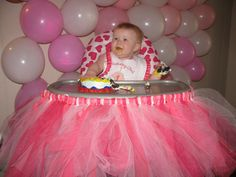 Highchair Birthday Decoration Tutu TEMPORARY Seat Cover TuTu Butterfly Cupcake Minnie Mouse Princess 1st Birthday Decorations Highchair on Etsy, $30.00