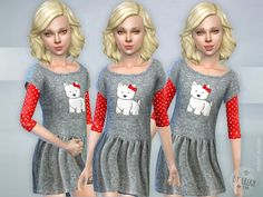 Westie Dress  Found in TSR Category 'sims 4 Female Child Everyday'