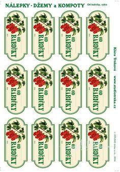 Samolepicí etikety, zavařování rybíz od babičky Advent Calendar, Printables, Holiday Decor, Advent Calenders, Print Templates