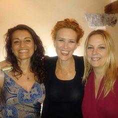 Con Lucrezia Lante della Rovere e Emanuela Panatta
