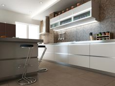 Grupo3 carlos cocina en proceso muebles blancos con for Diseno actual amoblamientos