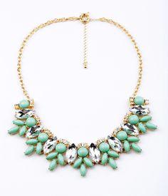 jcrew statement necklace in green