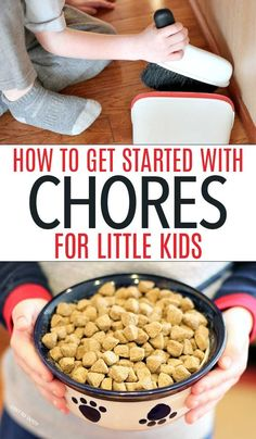 Help kids get started with chores with these tips! Kids Chores | chores for kids | chore charts | chore ideas | toddler chores | chores for preschoolers