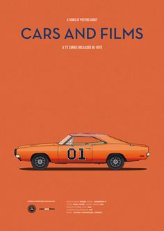 Cars And Films — Poster of The Dukes of Hazzard car. Illustration...