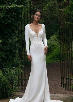 44045 Flared cut / Fit-n-Flare Wedding Dress by Sincerity Bridal - WeddingWire.com