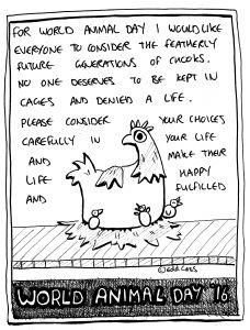 World Animal Day - Chicken illustration