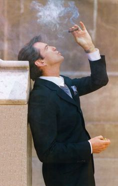"Pierce Brosnan, probably from 1997 interview in ""Cigar Aficionado"" (http://bit.ly/1aGAZ5l)"