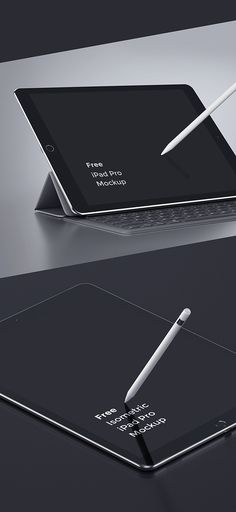 Have a look on this unique iPad Pro PSD MockUp with high resolution. Don't hesitate! It's totally FREE to download!