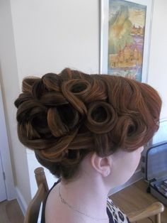One of our bridal at her bridal trial Hair & makeup WHAM Artists http://weddinghairandmakeupartists.com/