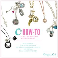 Love our Dangles but not sure how to make them work for you? Check out today's O2 How-to!  www.facebook.com/O2laura www.lhanzel.origamiowl.com