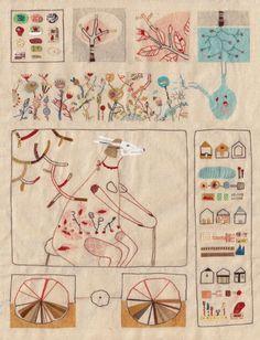 "♒ Enchanting Embroidery ♒ Annalisa Bollini ""She - The Earth"""