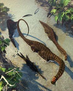 Apatosaurus From Above, Kurt Miller on ArtStation at https://www.artstation.com/artwork/1LO32