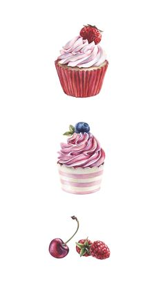Cupcake Pattern by Katherine Dae, via Behance