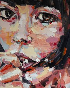 "Saatchi Art Artist thomas donaldson; Painting, ""6-8-14 head"" #art"