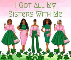 Aka Sorority Gifts, Alpha Kappa Alpha Sorority, Sorority And Fraternity, Sorority Life, Delta Phi, Sorority Canvas, Sorority Outfits, Pretty Girl Swag, Pretty In Pink