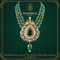 #PolkiPerfection : An exquisite statement necklace from #HazoorilalLegacy…
