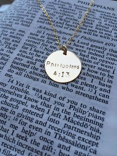 Bible Verse Necklace Bible Verse Necklace With by BootsAndArrows Gold Jewelry Simple, Cute Jewelry, Jewlery, Sparkly Jewelry, Gold Bar Necklace, Simple Necklace, Arrow Jewelry, Bachelorette Gifts, Christian Jewelry