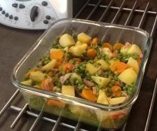 Recette Jardinière de légumes aux petits lardons par catlhylolo - recette de la catégorie Accompagnements