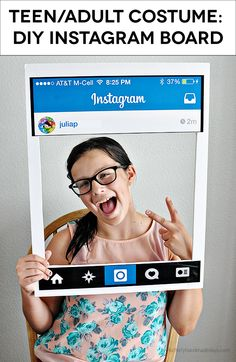 Simple and fun Halloween Costume for Teens/Adults - DIY Instagram | Thirty Handmade Days