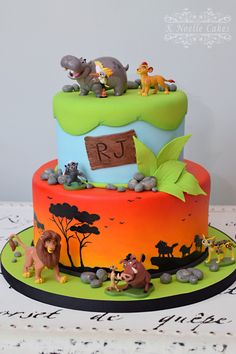Lion Guard ~ Lion King theme cake by K Noelle Cakes